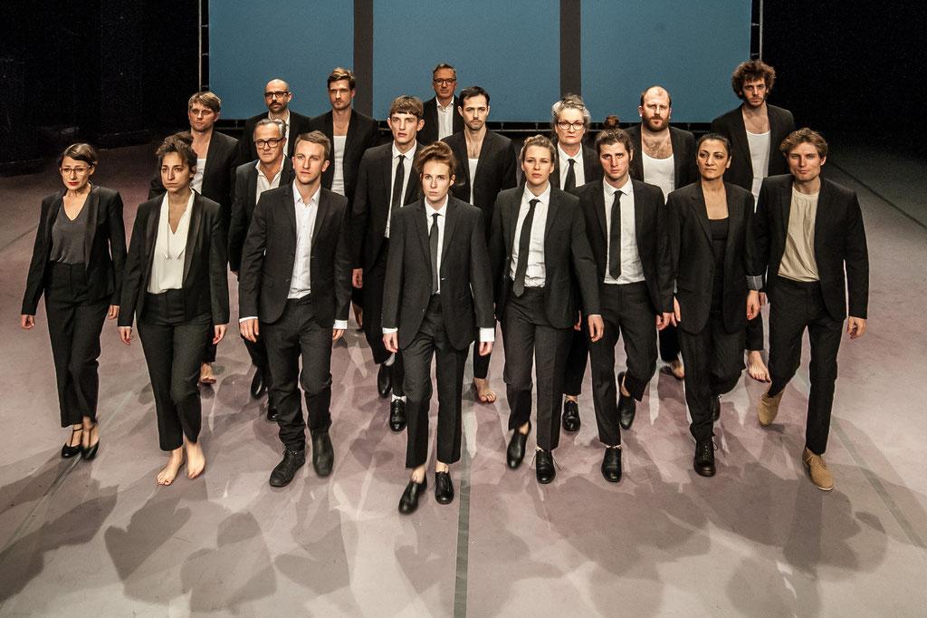 Aktionstheater Ensemble, Gruppenfoto 30 Jahre, 2018, Spielboden Dornbirn (A)
