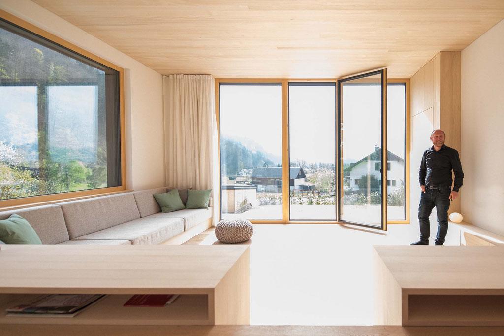 Doppelhaus am Hang (Lukas Mähr, Carmen Wurz), Hohenems (A)