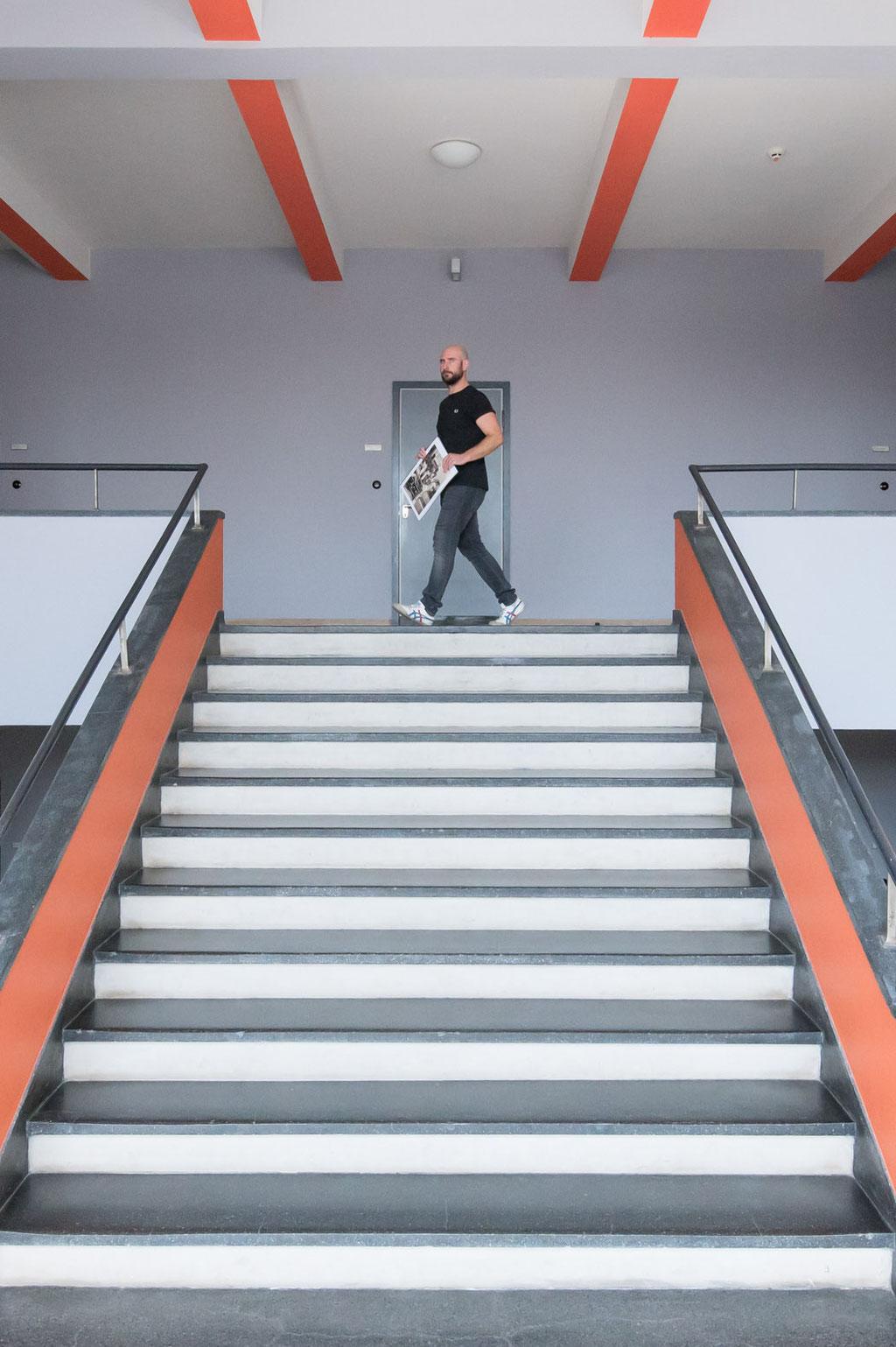 Treppe Hochschulgebäude (Walter Gropius), Dessau (D)