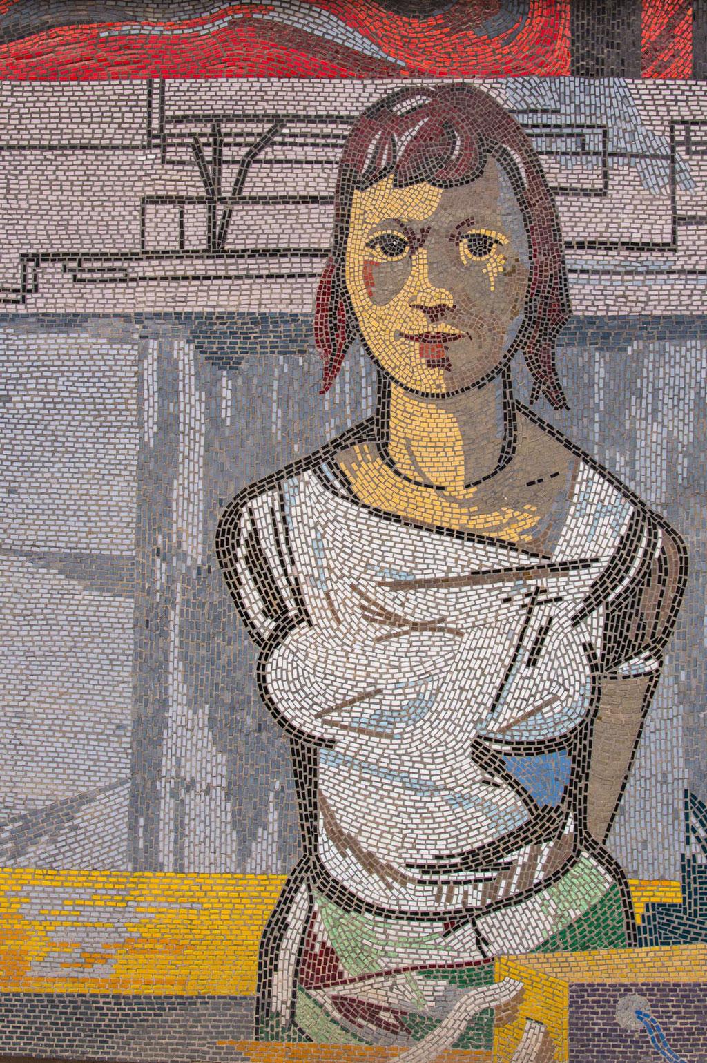 Rechenzentrum (Sepp Weber Kollektiv), Mosaik (Fritz Eisel), Potsdam (D)