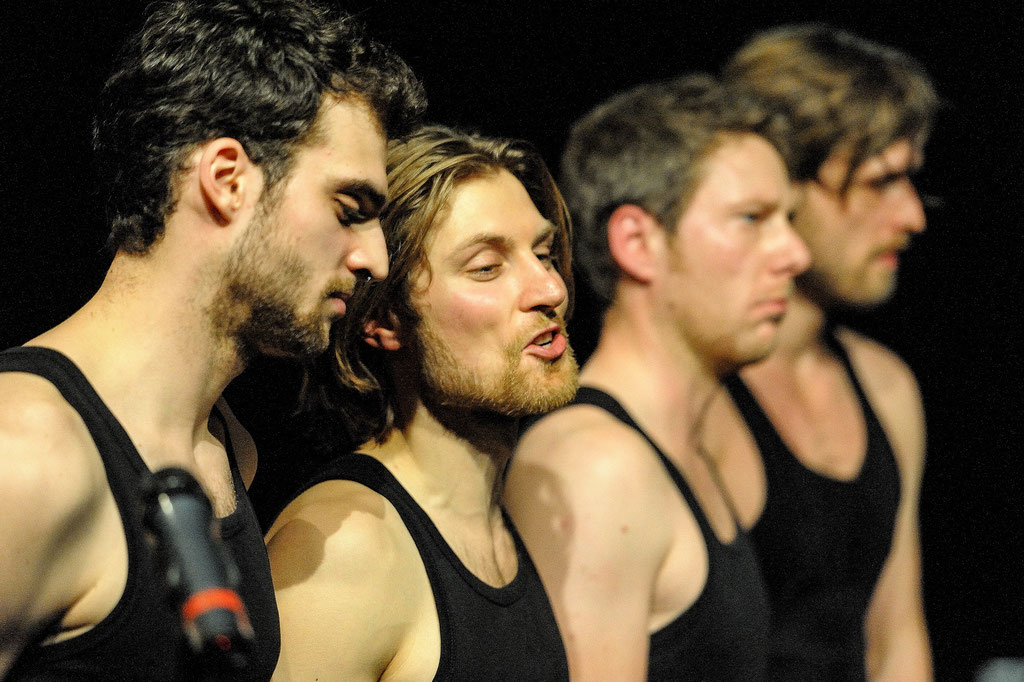 "Aktionstheater Ensemble, ""Angry Young Men"", 2014, Spielboden Dornbirn (A)"