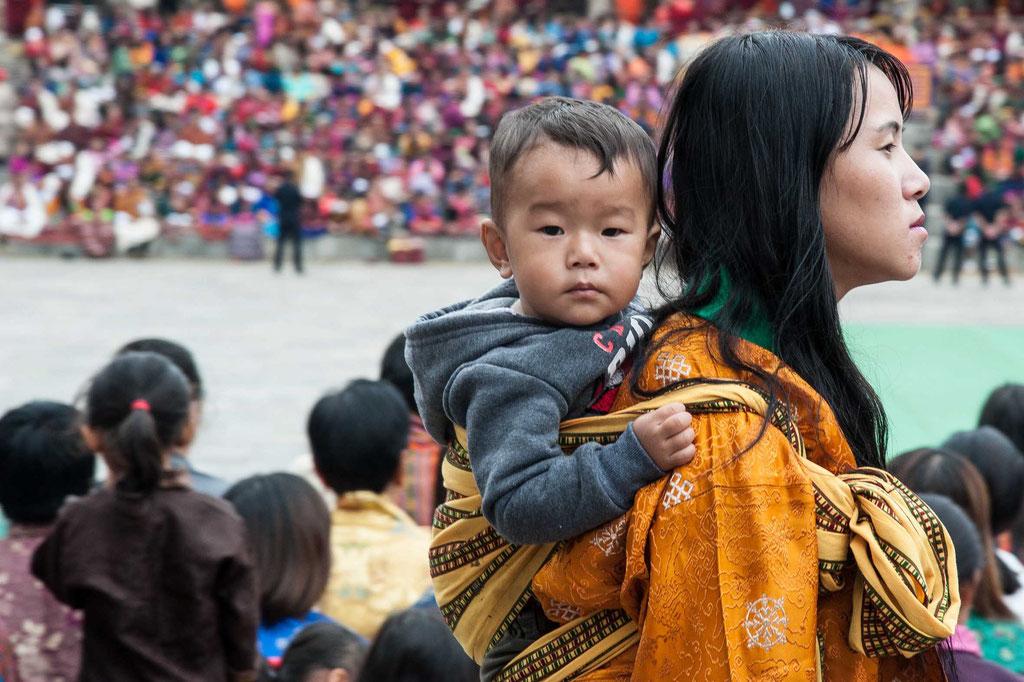 Tempelfest/Temple celebration Thimphu Dzong, Bhutan