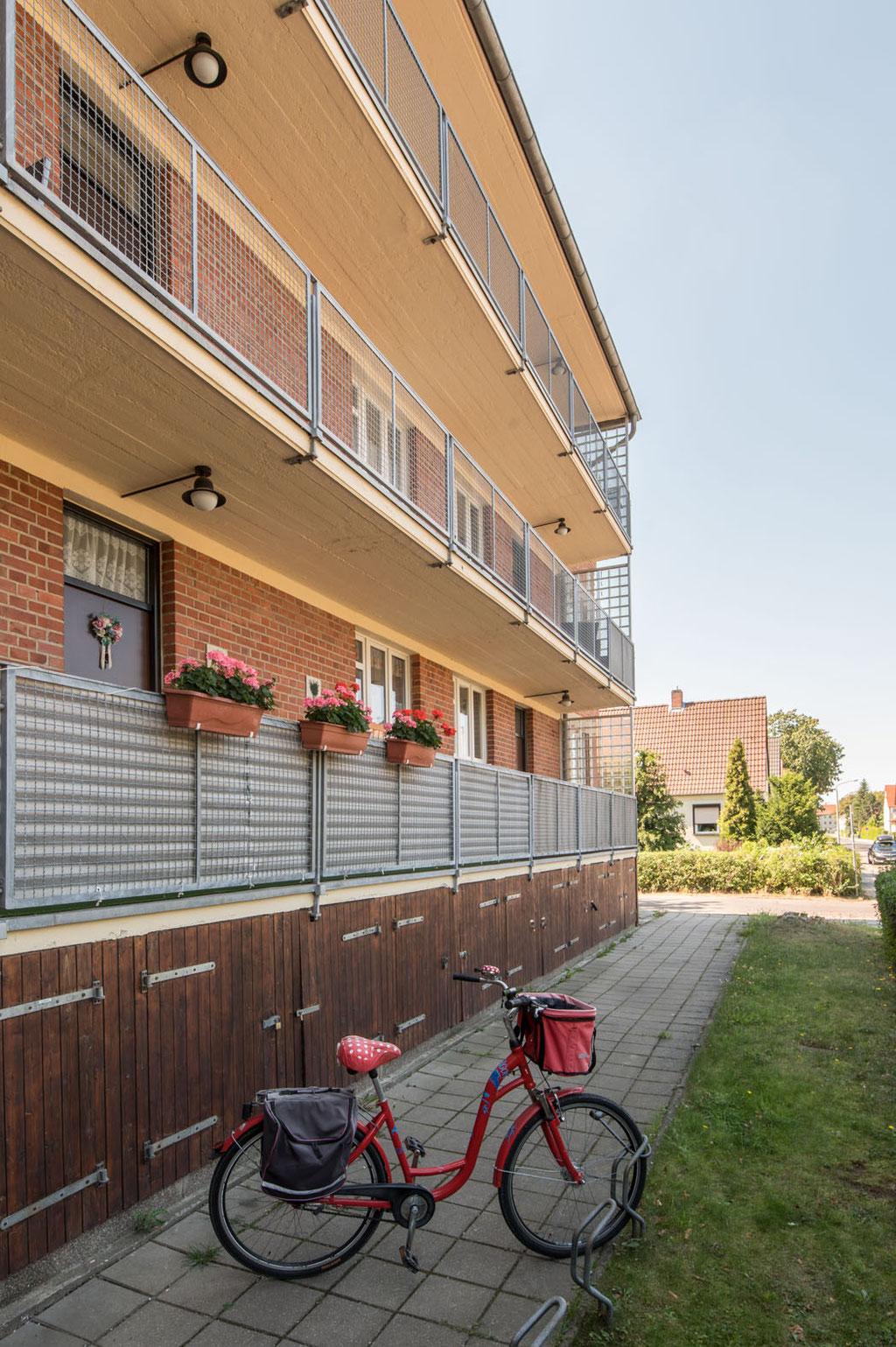 Laubenganghäuser (Bauabteilung des Bauhauses, Leitung Hannes Meyer), Siedlung Törten, Dessau (D)