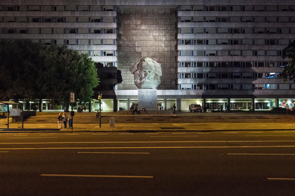 """Haus der Staatsorgane & Partei (""""Parteisäge"""", Günter Schlegel, Wolfgang Seidel, Günter Arnold), Chemnitz (D)"""