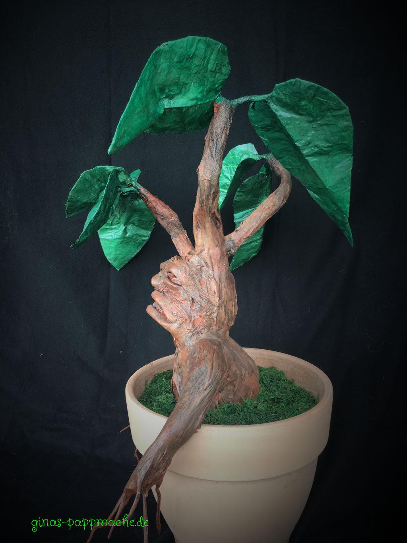 Papiermache, papermache, Pappmache, Alraune, Schreipflanze, Kunst