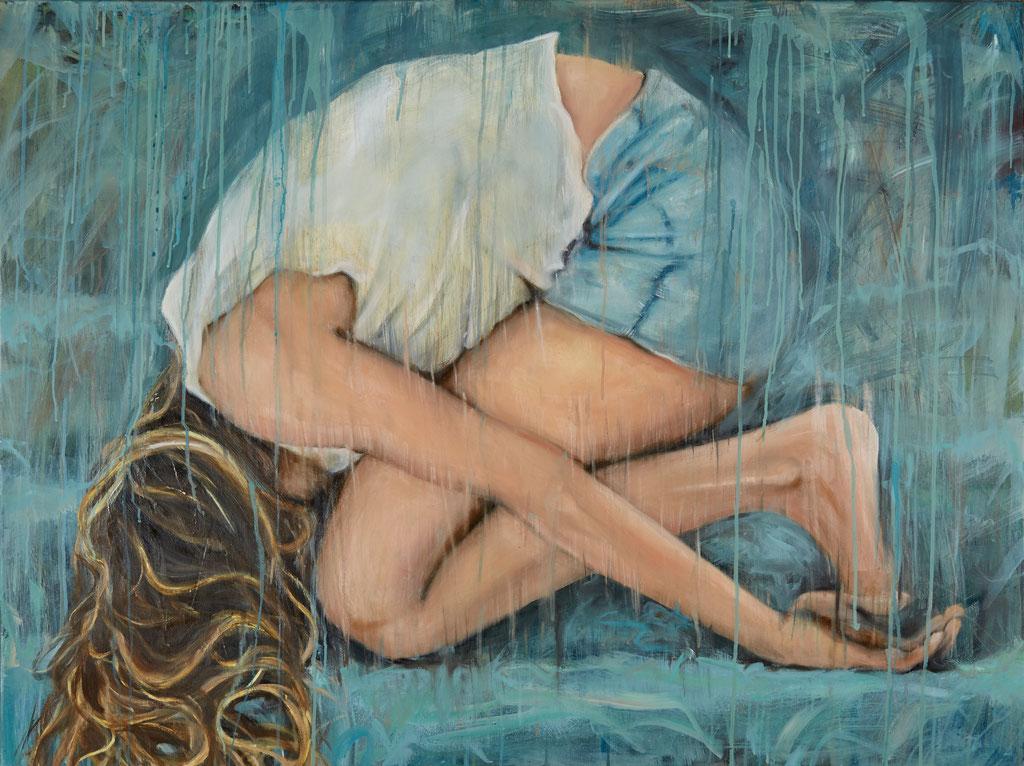 hidden portrait - Öl - 120 x 90 cm
