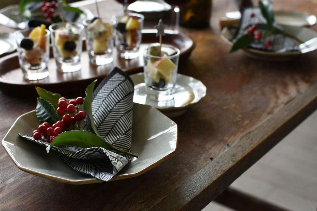 和食器でクリスマス