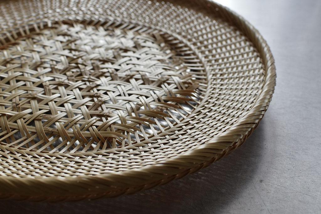 竹工芸 美しい本麻編みの大皿