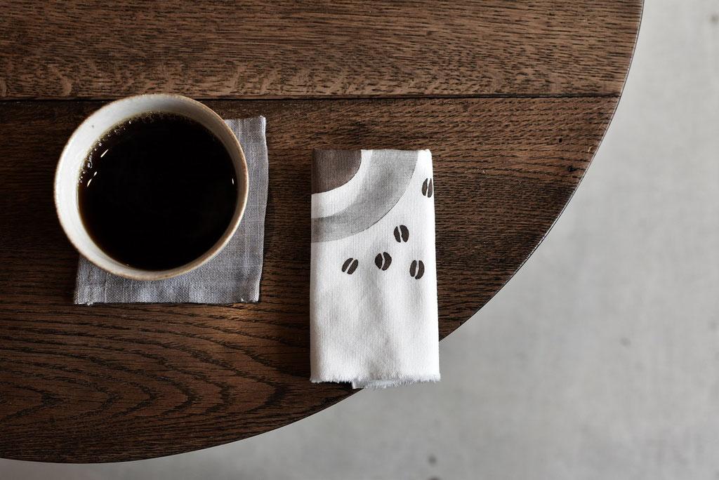 美味しいコーヒーとCOFFEE手ぬぐい