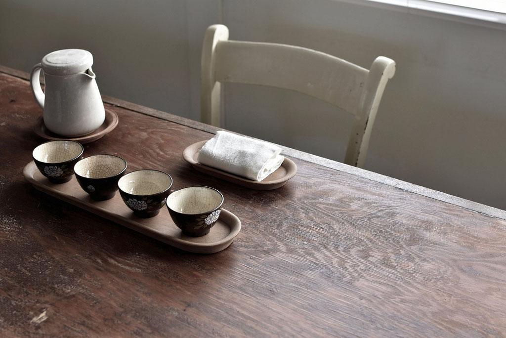 古道具の湯呑で美味しいお茶を