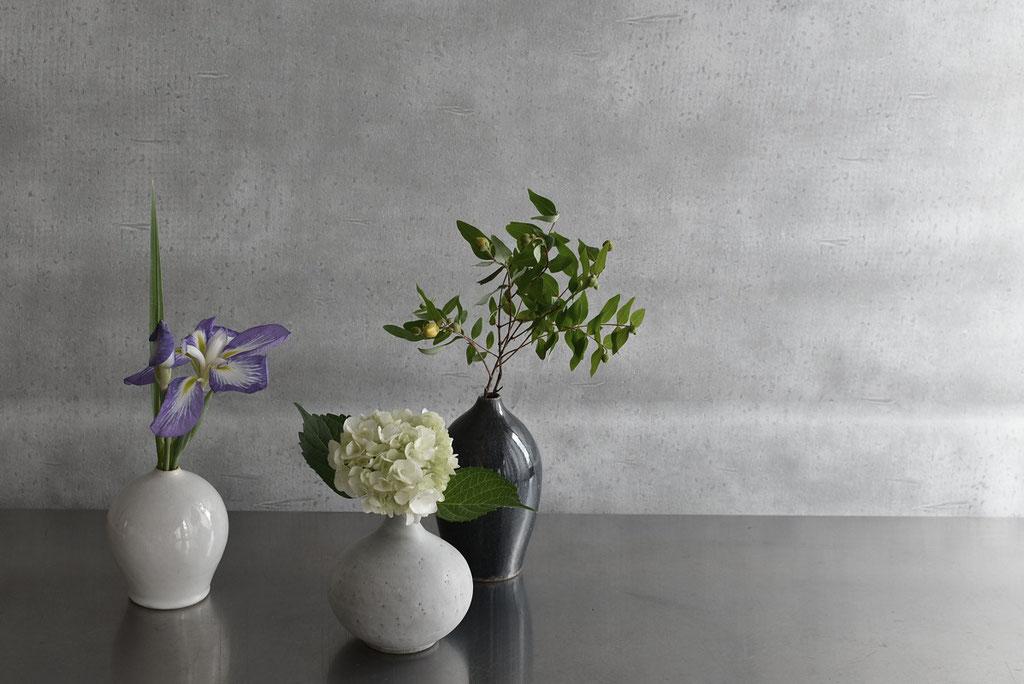 季節の花をtakumapotteryのいちりんへ