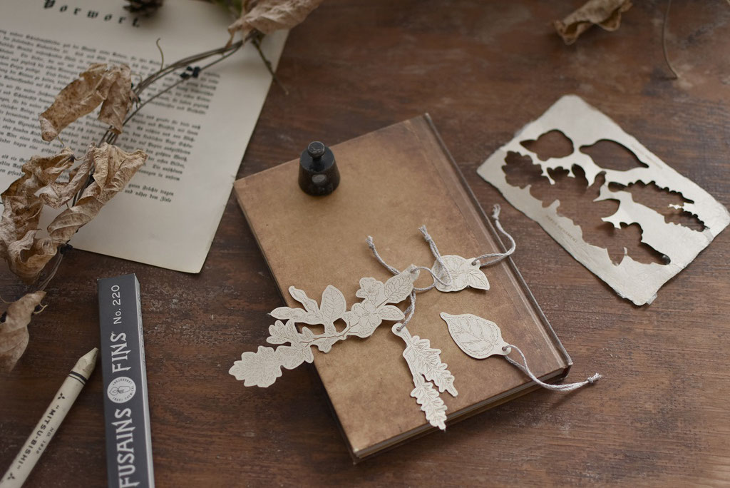 五箇山和紙の植物オーナメント