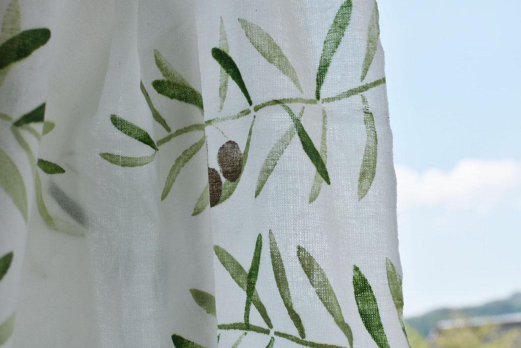 アケモドロ オリーブの枝 手ぬぐい