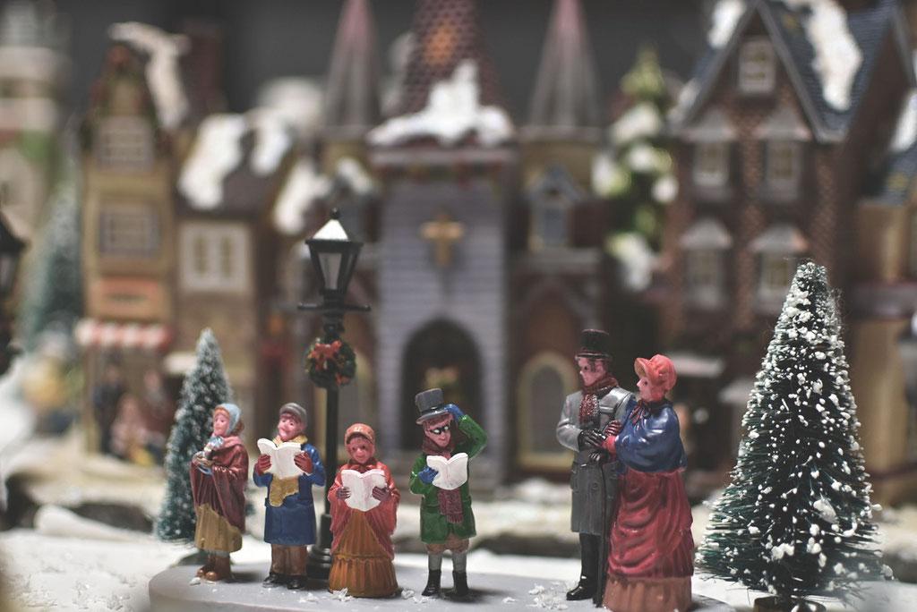 クリスマスビレッジの景色