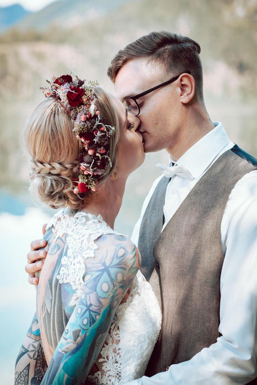 Hochzeitsfoto Almsee, Hochzeitsfotograf Oberösterreich