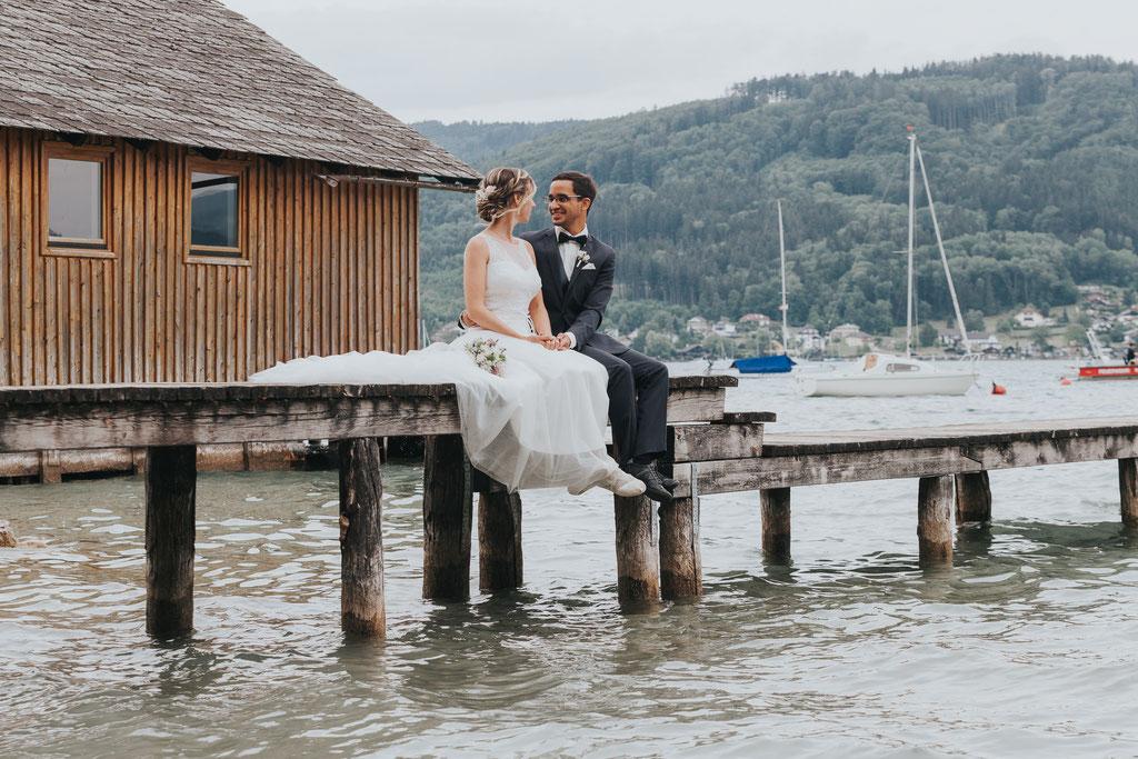 Hochzeitsfoto Seewalchen, Attersee