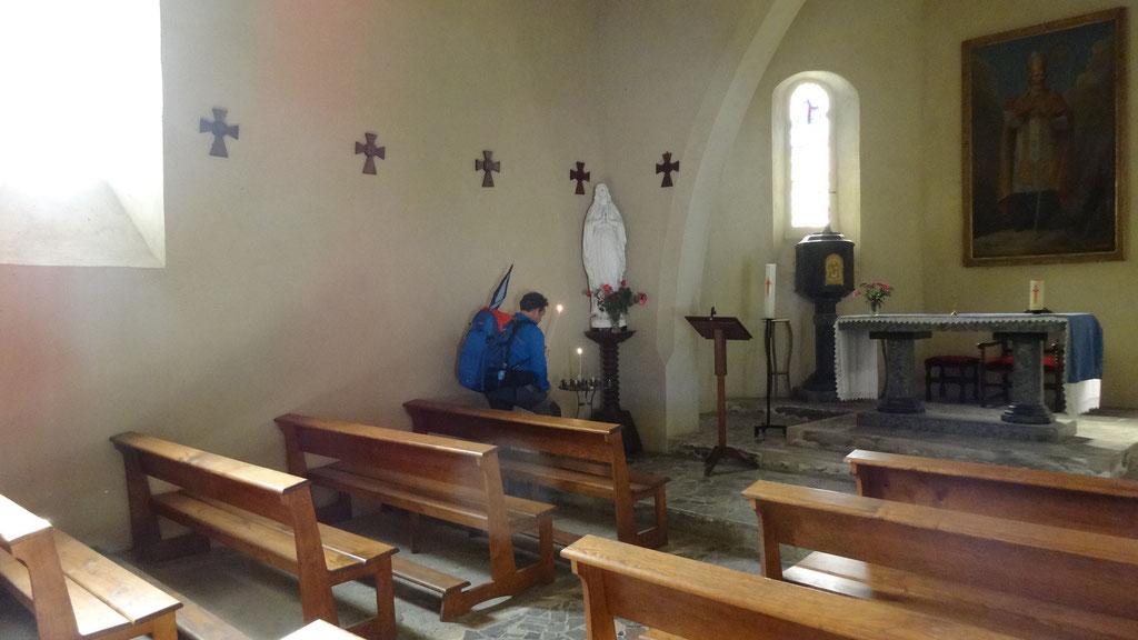 Thierry dans l'église de Louvigny