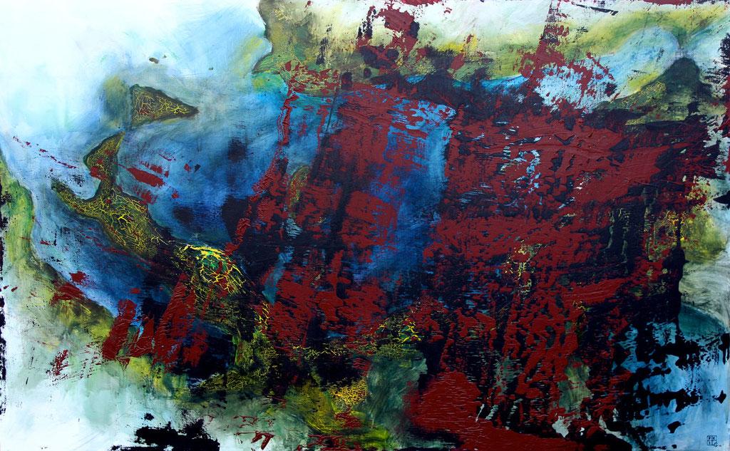Christian Feig, Rom, 2014, aus der Serie: Europa 2087, Acryl auf Leinwand, 112 x 180 cm