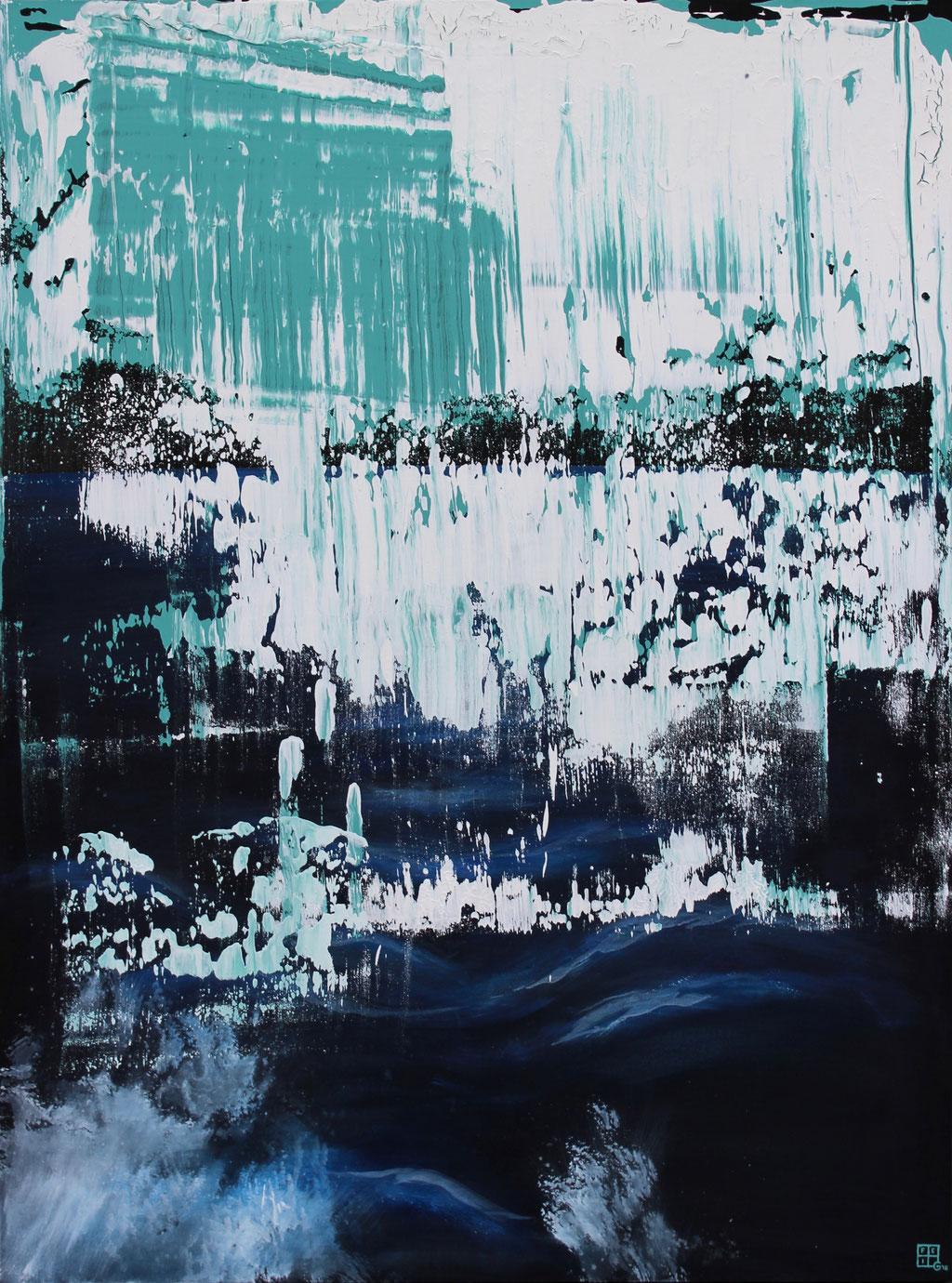 Christian Feig, Die Insel, 2016, aus der Serie, Suche, Acryl auf Leinwand, 160 x 120 cm
