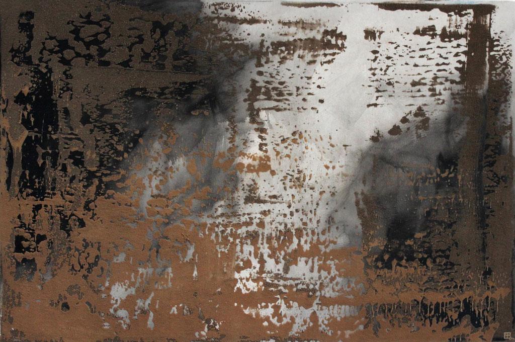 Christian Feig, Staub der Gartenschau, 2014, Mixed Media, 120 x 180 cm