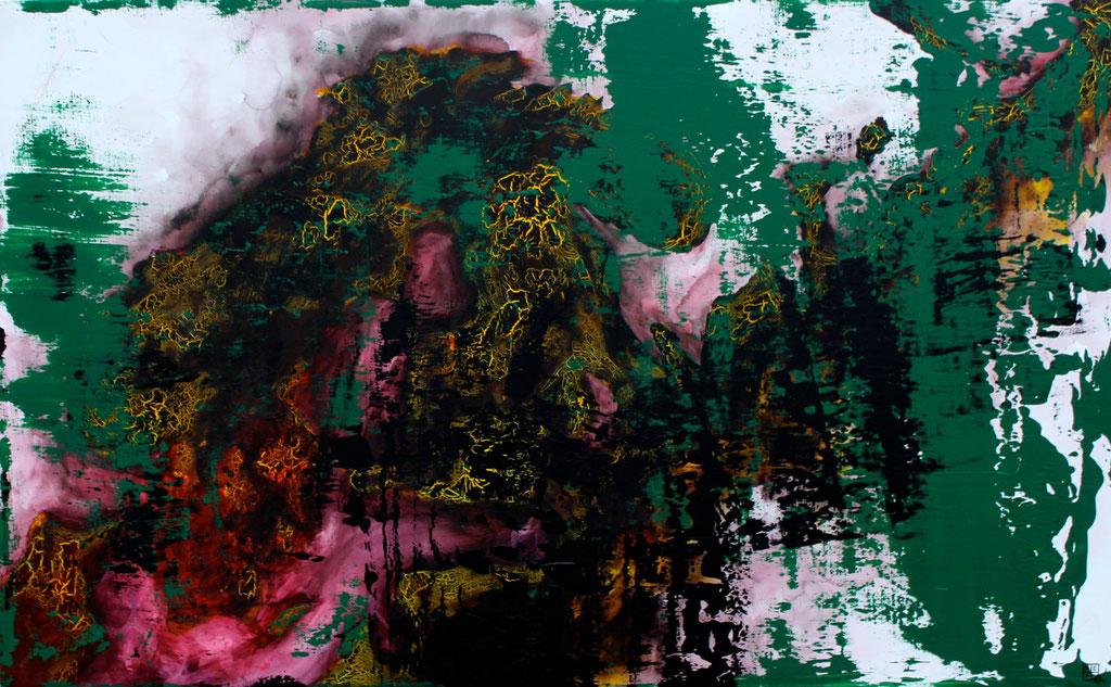 Christian Feig, Stockholm, 2014, aus der Serie: Europa 2087, Acryl auf Leinwand, 112 x 180 cm