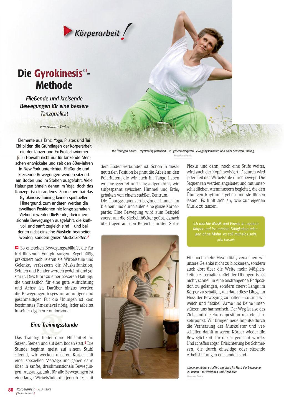 Artikel in der TANGO DANZA Juli/2019 www.tangodanza.de - Verfasserin MANON WEISS