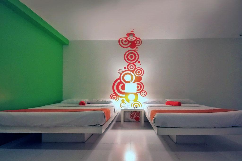 The large room - good for 4. The Islands Stay Hotel in Cebu, Philippines © Sabrina Iovino | JustOneWayTicket.com