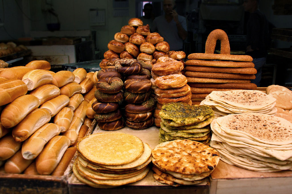 Baked goods at the Mahane Yehuda Market in Jerusalem, Israel © Sabrina Iovino | JustOneWayTicket.com