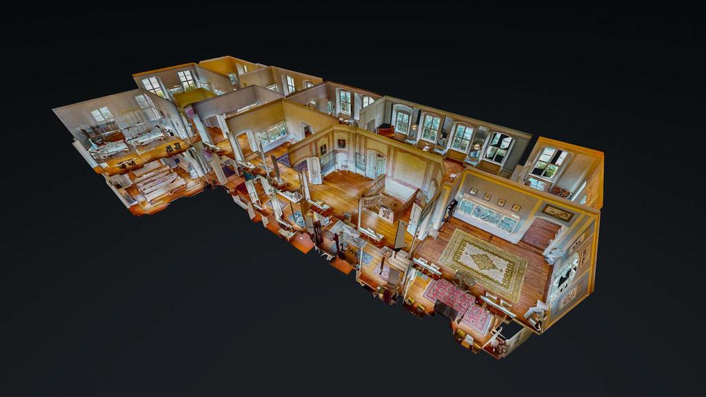 Virtueller 3D Rundgang Puppenhausansicht