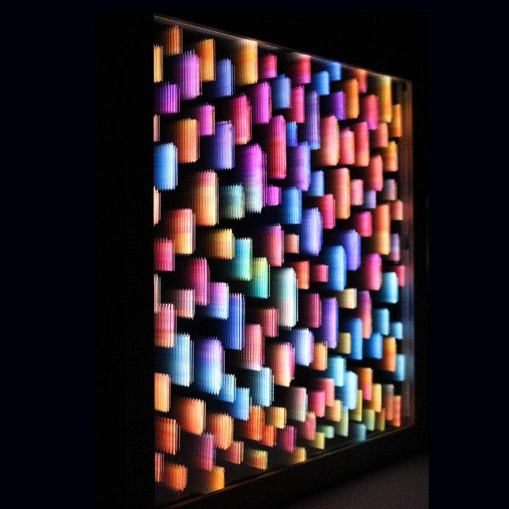 """LIGHT RAIN III"", 44x44 cm, Sold"
