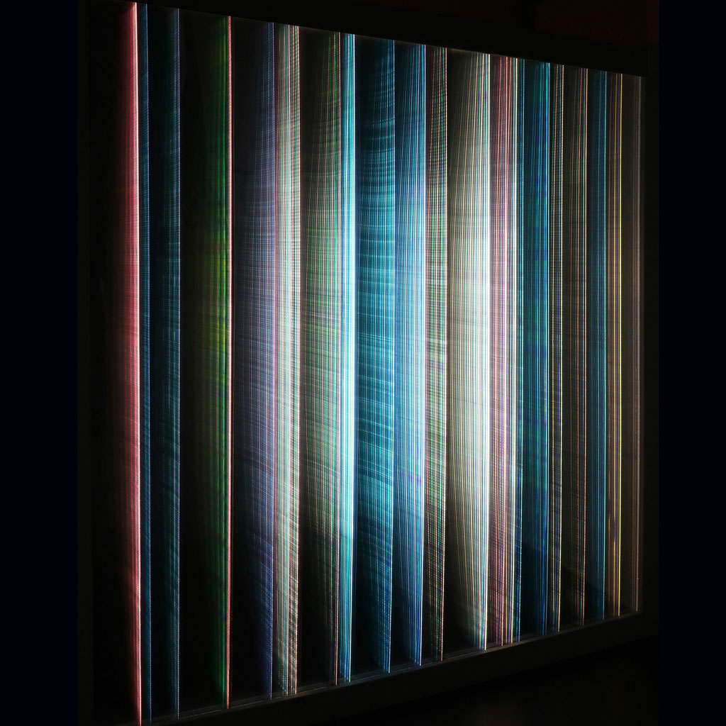 """LIGHT STRIPES II"", 64x64 cm, not available"