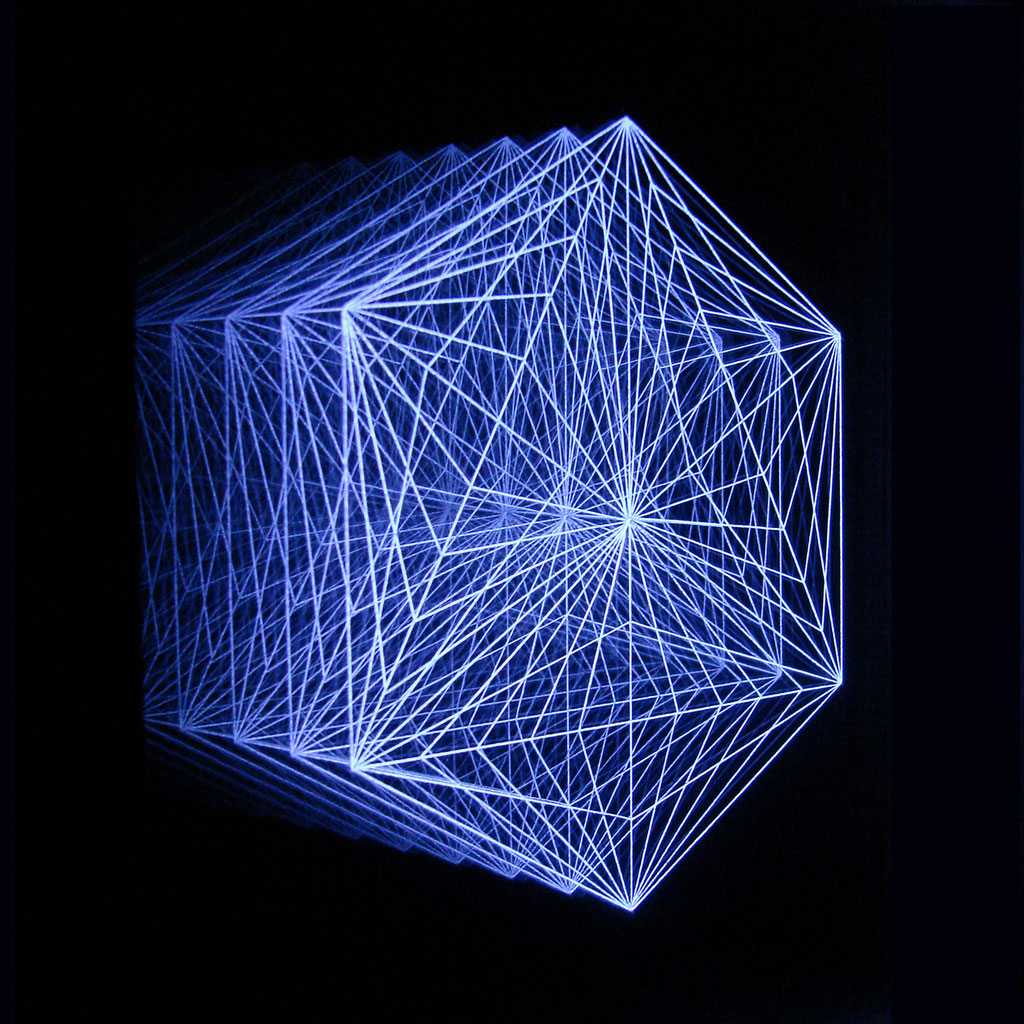 """HEXAGON II"" 24x24cm, RGB-Colour-LEDs"