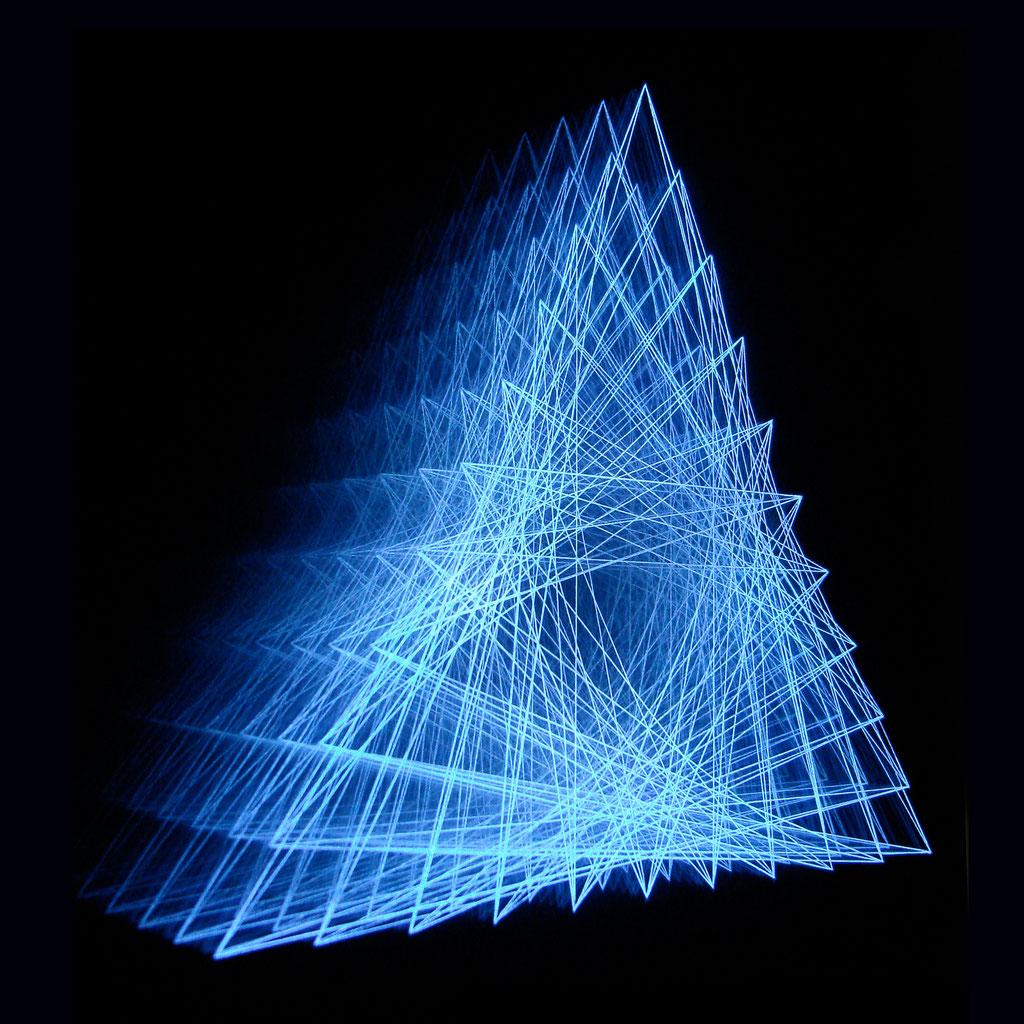 """""""DREIKLANG"""", 44x44 cm, RGB-Colour-LEDs, 1200 €"""