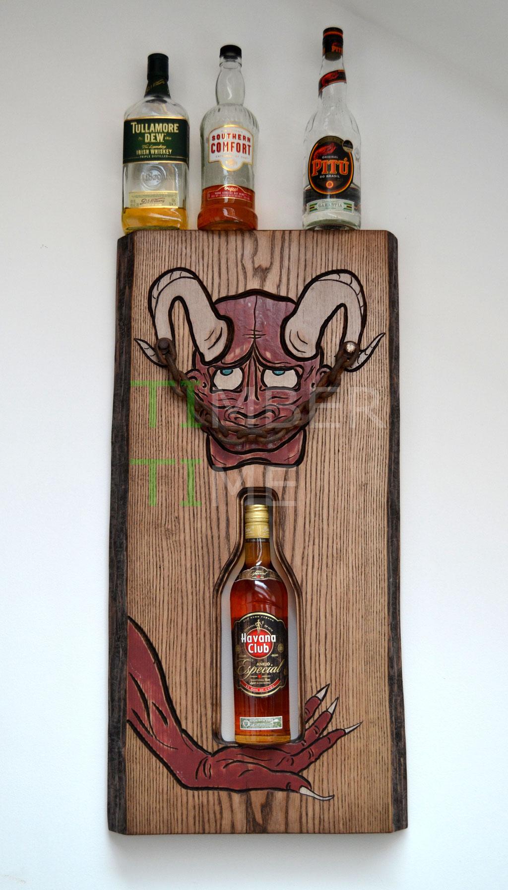 Wandkunst Teufel