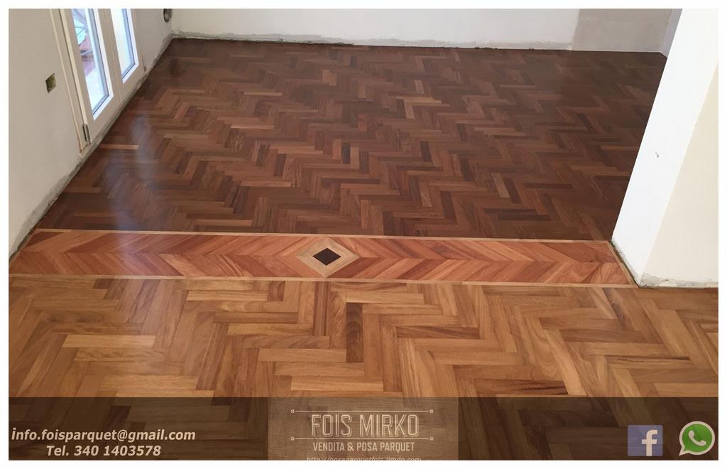 Disegni in parquet fois mirko vendita posa parquet for Battiscopa in legno bricoman