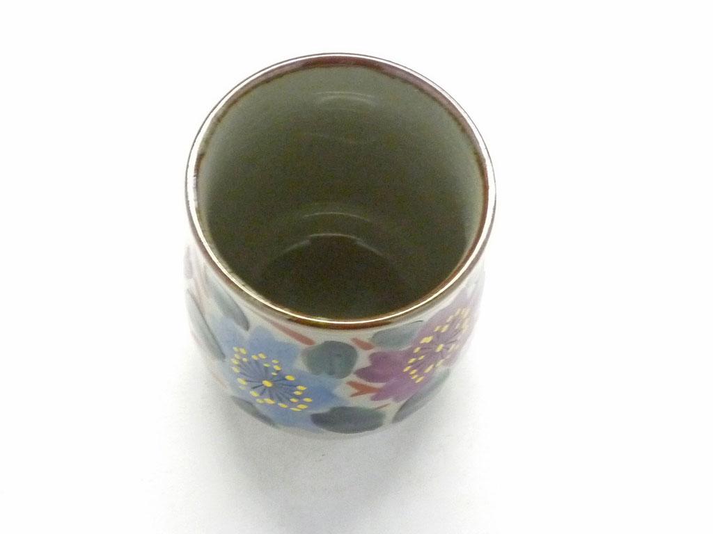 九谷焼【お湯呑】小 和桜【裏絵】