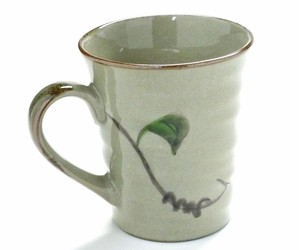 九谷焼【マグカップ】コンビ山茶花【裏絵】