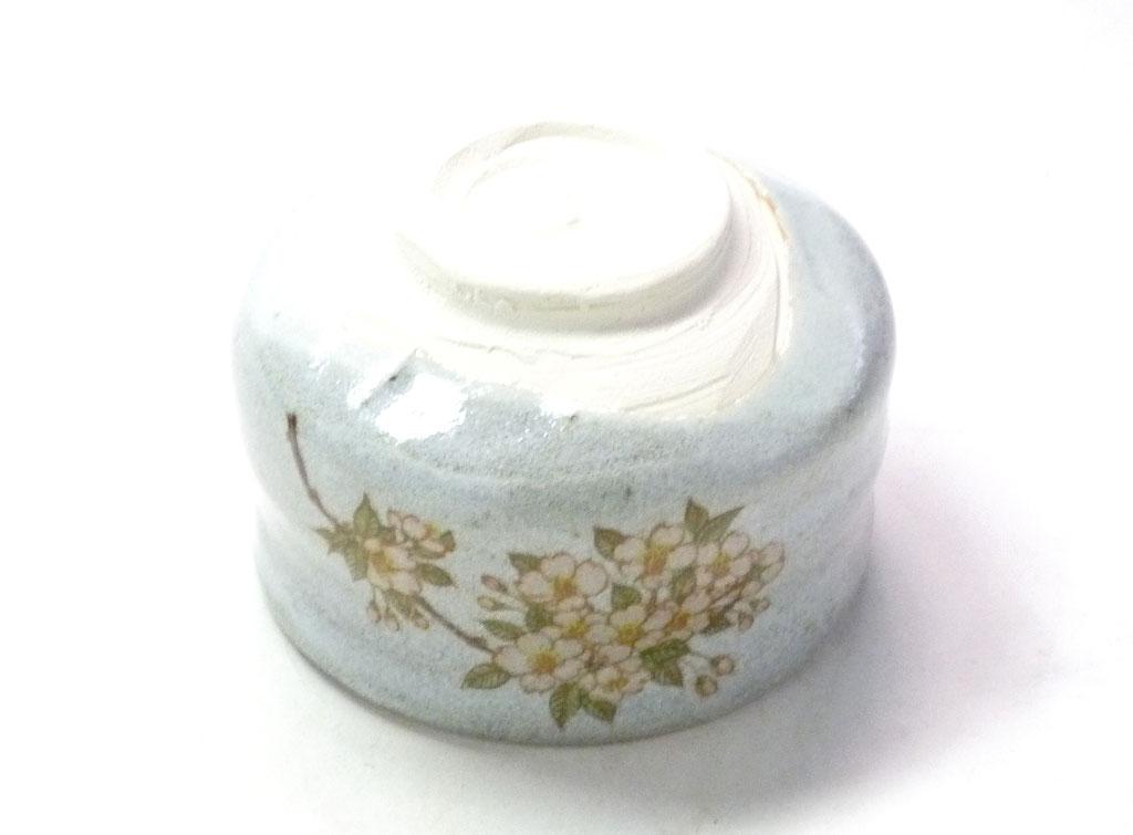 九谷焼通販 おしゃれ 抹茶茶碗 しだれ桜