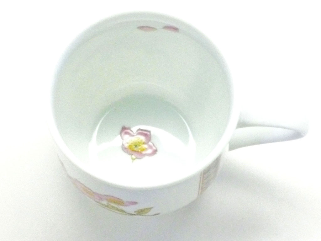 九谷焼【マグカップ】(磁器)ソメイヨシノ 小紋付 中裏絵