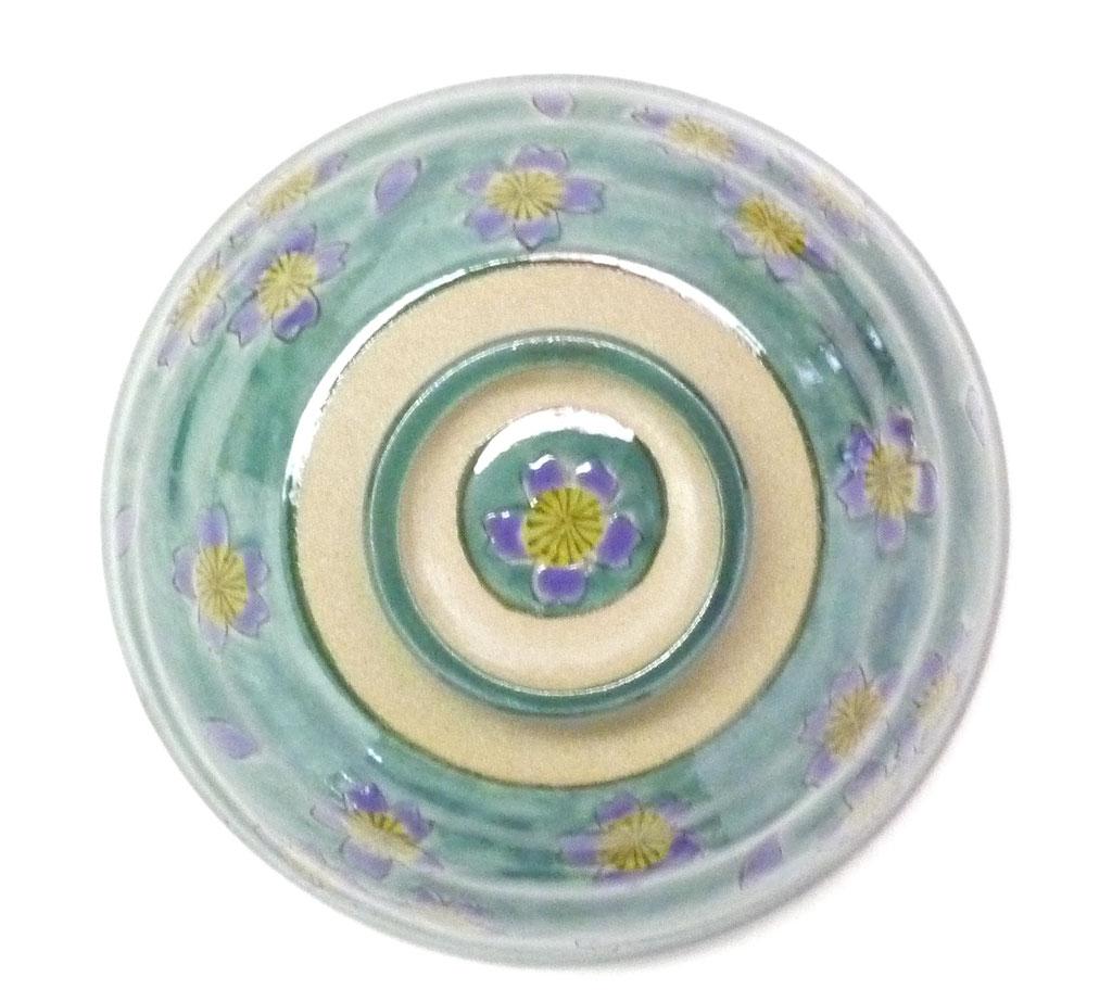 九谷焼通販 おしゃれな飯碗 ご飯茶碗  大 桜 裏絵の図