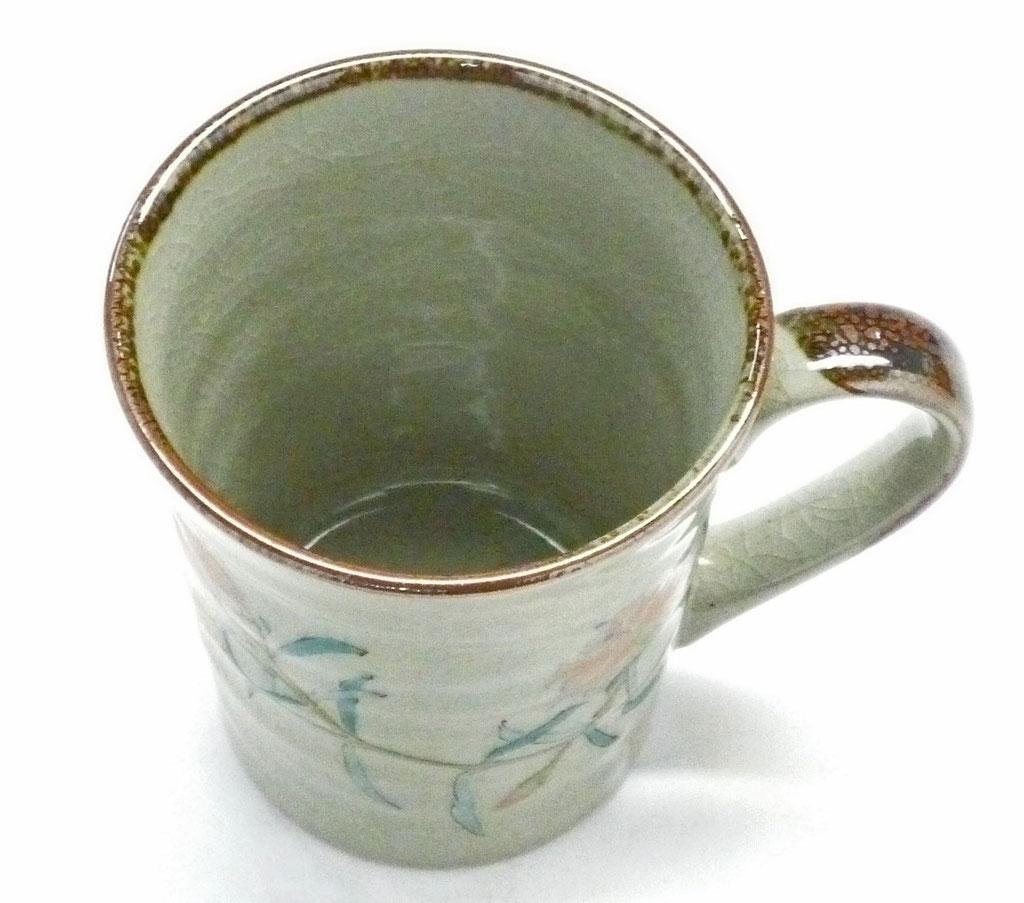 九谷焼マグカップ なでしこ