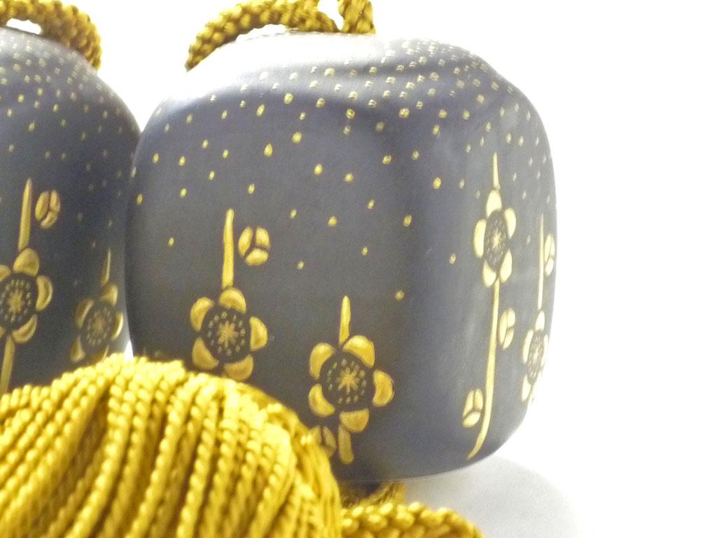 九谷焼『風鎮』本金金粒