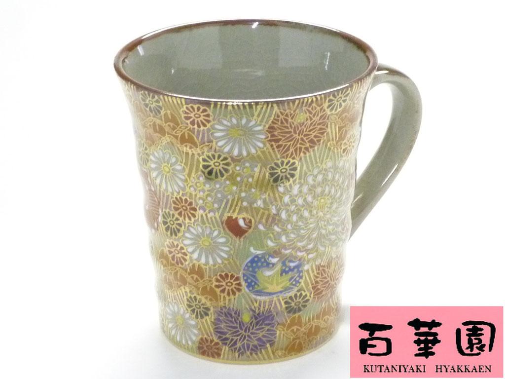 九谷焼マグカップ 加賀のお殿様お姫様キブン