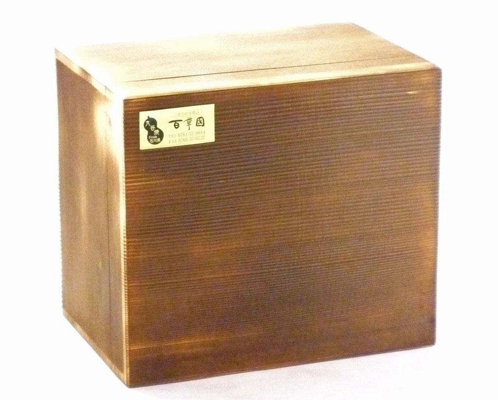 九谷焼酒井百華園オリジナル 焼き塗装木箱