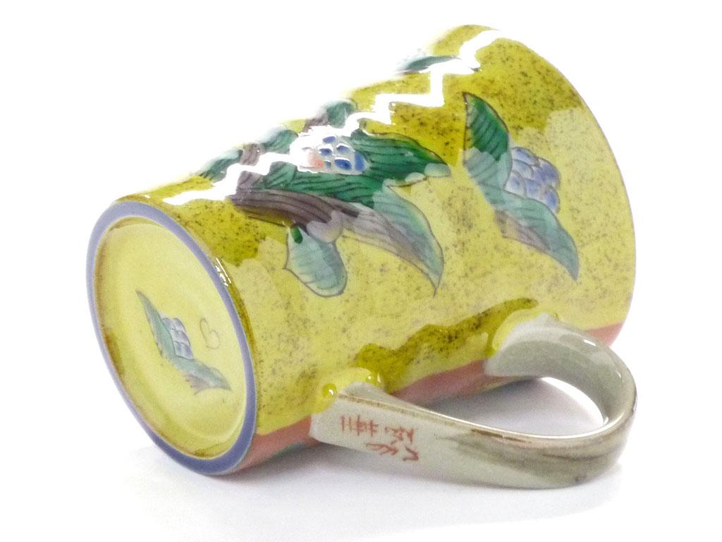 九谷焼【マグカップ】吉田屋木米ツートンカラー【裏絵】