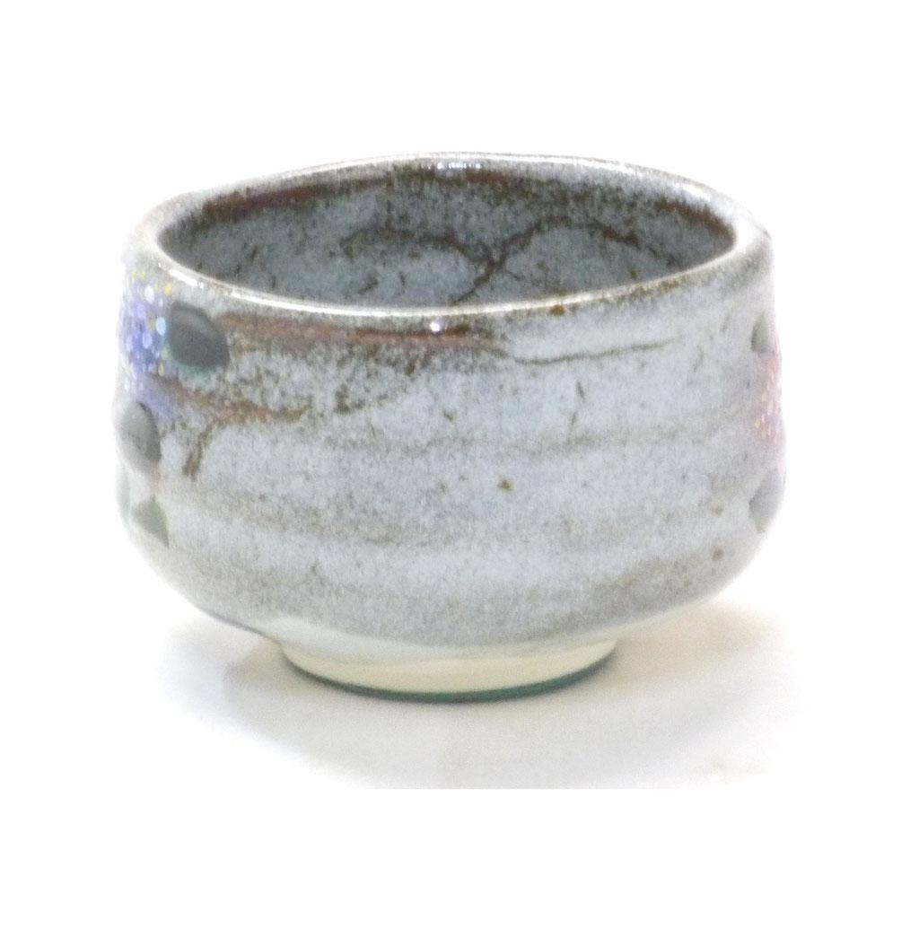 九谷焼 抹茶碗 がく紫陽花