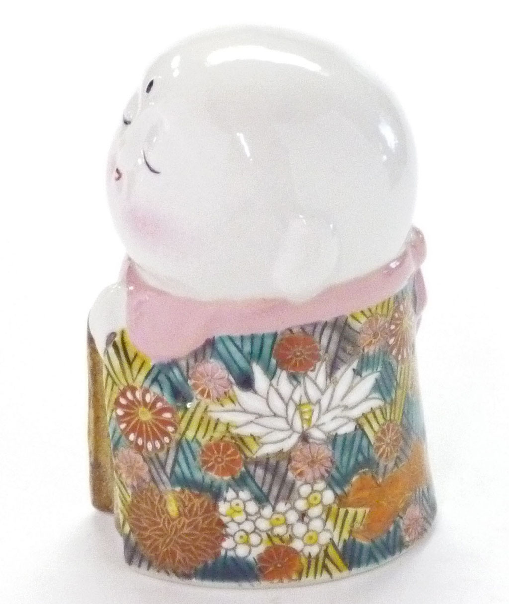 九谷焼【お地蔵】加賀のお殿様・お姫様キブン(金花詰)3.5号
