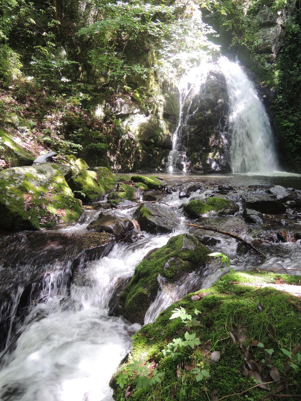 新見市菅生の鳴滝。
