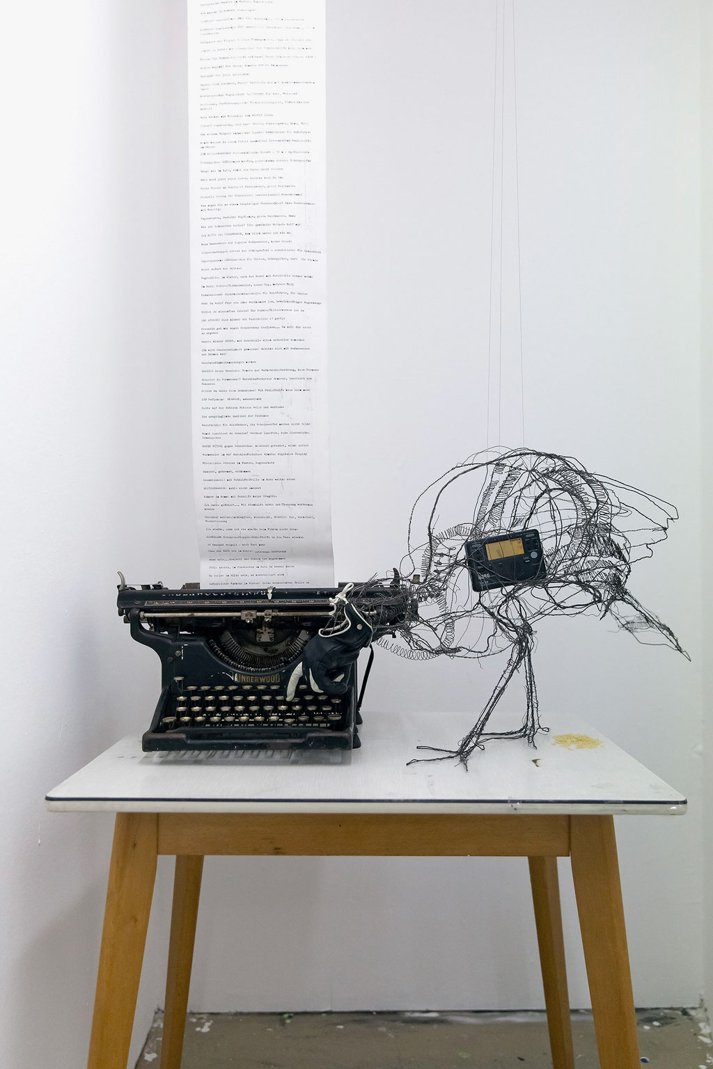 Angehaltener Spamautomat, 2018, Objekt / Installation.