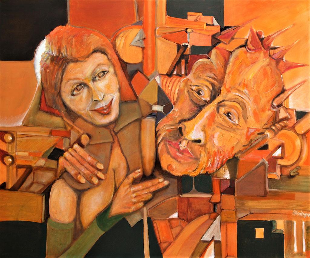 aufwandeln - 100 x 120 cm, Acryl auf Leinwand